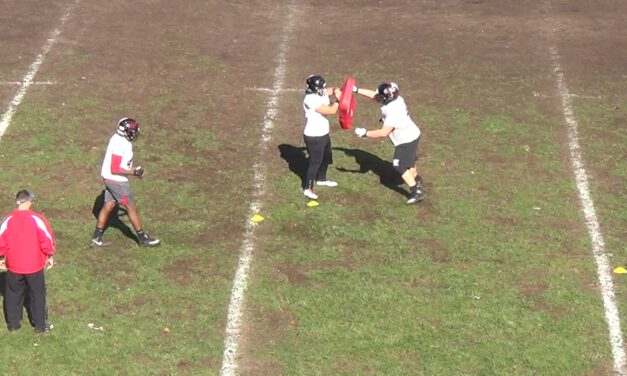 Backside Tackle Shuffle Hinge Drill- Rahway High School (NJ)