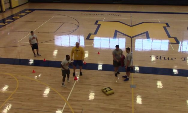Buck Sweep Drill vs Backside Shade- Middletown Area High School (PA)