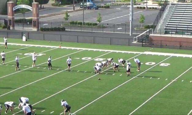Wide Zone Half Line Drill- Trinity High School (KY)