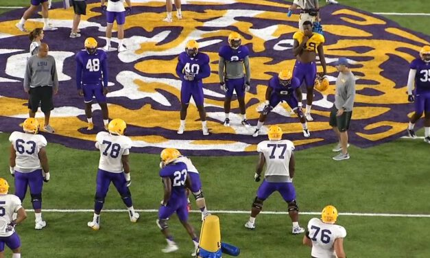 ILB vs Guard Rush Drill- LSU