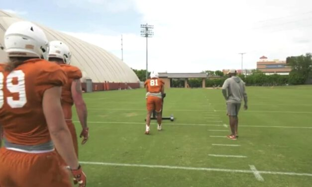 TE Angle Footwork Drill on Sled- University of Texas