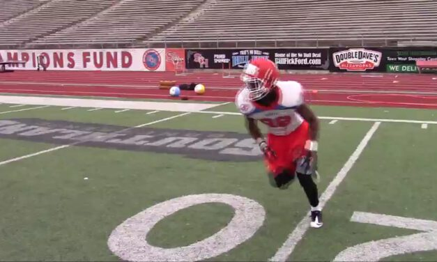 WR Backdoor Technique Drill- Sam Houston State