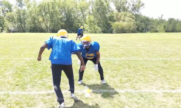 LB Step, Strike and Punch Drill (vs Outside Release)- Crete-Monee HS (IL)