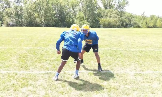 LB Reroute Footwork Drills- Crete-Monee HS (IL)