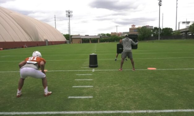 TE Insert Zone Drill from Backside Position- University of Texas
