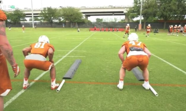TE Lateral Footwork Drill on Boards- University of Texas