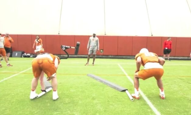 TE- Angle Footwork Drill- University of Texas