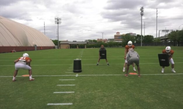 TE Split Zone Drill from Backside Position- University of Texas