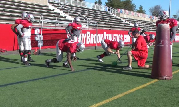 DL Get off to a spot Drill- Stony Brook University