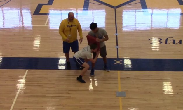 Down Block Drill (Fit Up Position)- Middletown Area High School (PA)