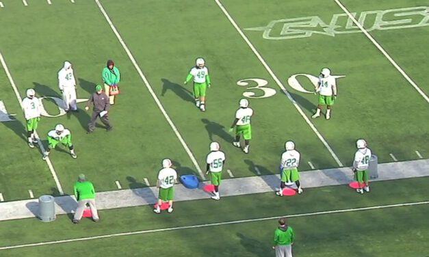 LB Play Behind Drill- Marshall University