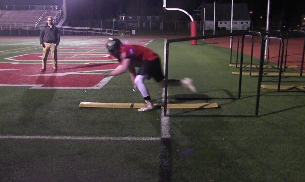 OL Down Pull Drill- Boonton HS (NJ)
