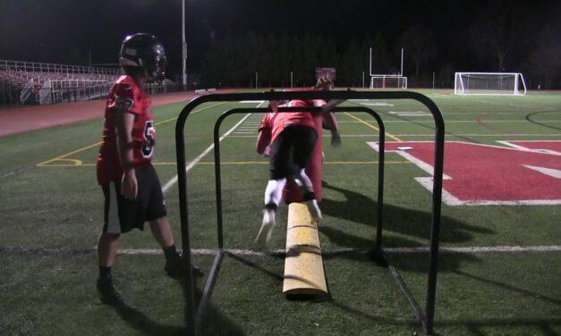 OL Hand Pressure Release Drill (vs LB's)- Boonton HS (NJ)