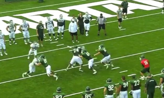 OL Pin and Pull Half Line Drill (3-man surface)- Michigan State University