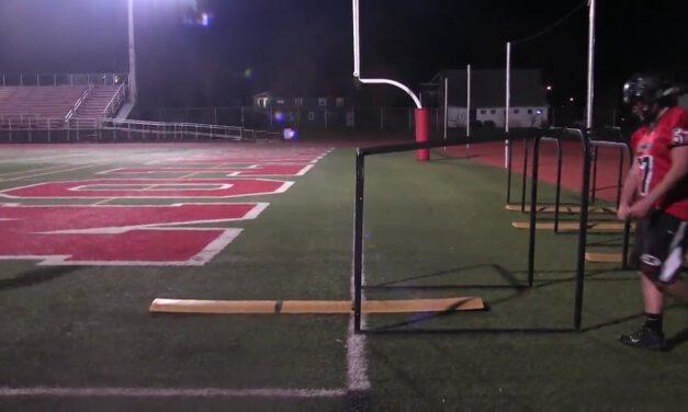 OL Reach Footwork Drill- Boonton HS (NJ)