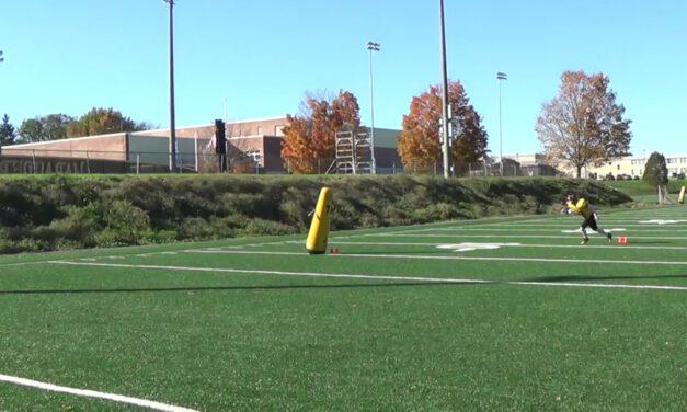 OLB Technique vs Curl Flat Drill- Millersville University (PA)