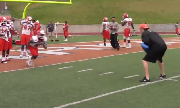 RB Spot Route Drill- Sam Houston State