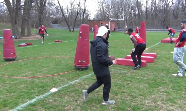 Scoop and Score Obstacle Drill- Bridgewater College (VA)