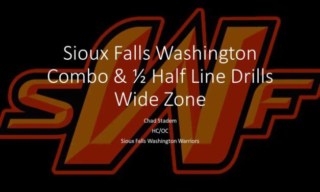 Wide Zone Combination Drill- Washington HS (SD)