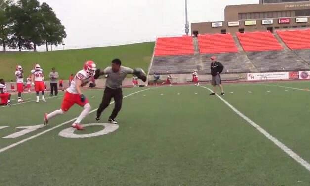 WR Look Lean and Drive Drill- Sam Houston State