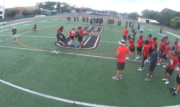 Middle of the Field Tackle Drill- Catholic HS (LA)