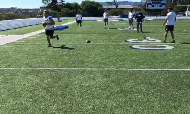 QB Jog Flip Toss Drill- College of San Mateo