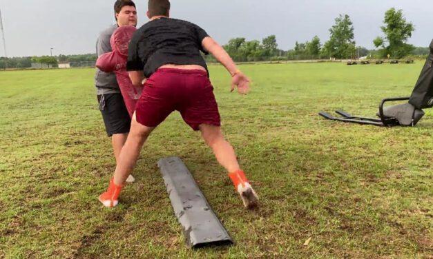 Tight Zone Combination Drill (outside man technique)- Madison County HS (FL)