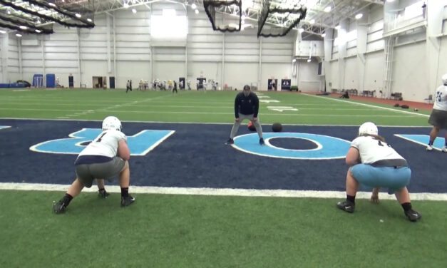 Skip Pull Drill (Gap Run Emphasis)- Northwood University (MI)
