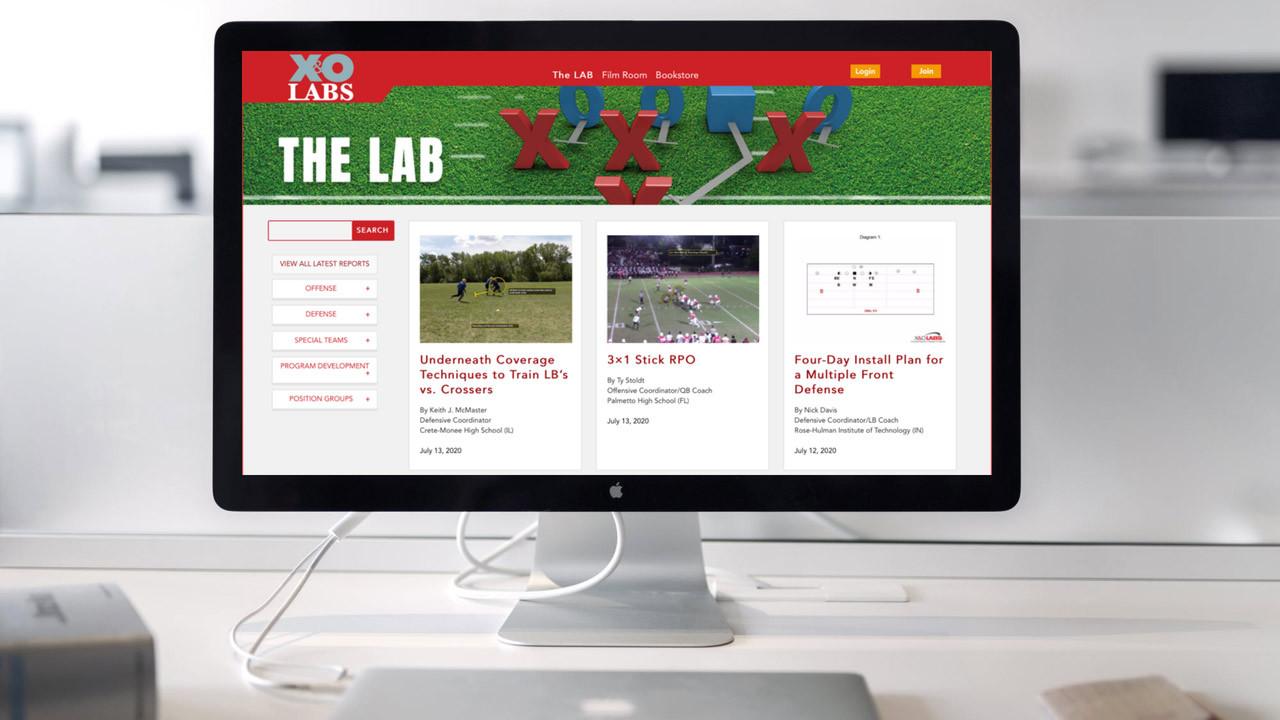 The Lab website on desktop