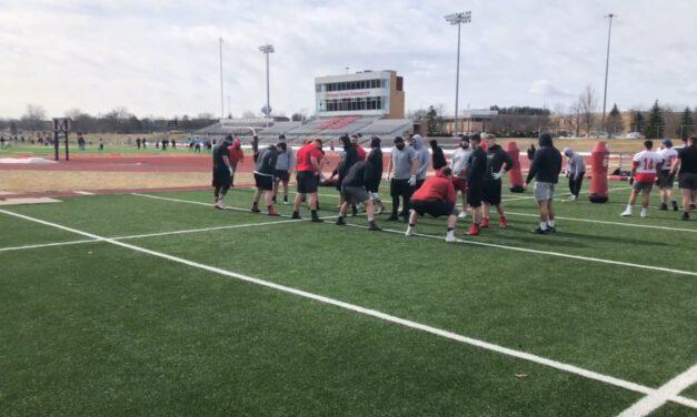 OL Pre-Practice Drills- Ferris State University (MI)