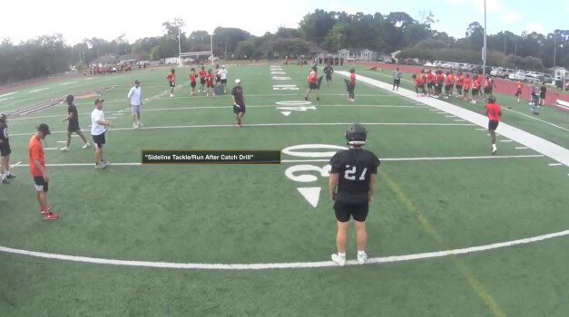 Non-Contact Drill Work to Teach Tackling, Block Destruction and Ball Security